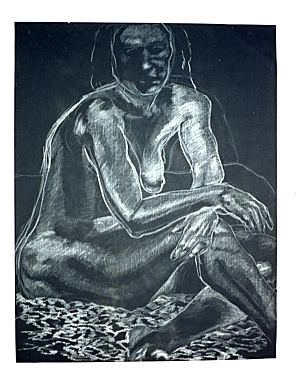 The Contemplative, conte on paper, 1995.
