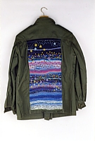 Night Sky, Embroidered Military Jacket, 2001