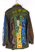 West Coast, Beaded Military Jacket, 1980