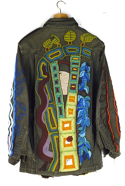 3. West Coast, Beaded Military Jacket, 1980 by Richard Preston